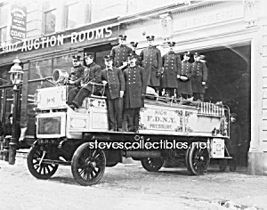 C.1910 New York City Fire Truck Photo - 5 X 7