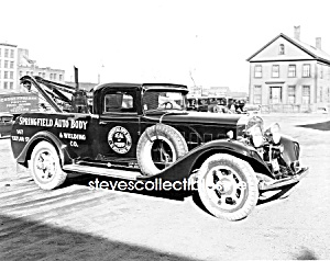 Early Springfield TOW TRUCK Wrecker PHOTO - 8 x 10 (Image1)