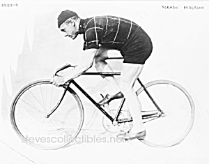 C.1914 Norman Anderson On Racing Bicycle Photo - 8 X 10