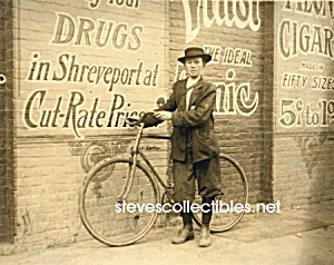 c.1913 Shreveport, LA DELIVERY BOY on Bike Photo-8 x 10 (Image1)