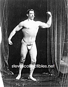 c.1901 STRONGMAN Flexing Muscles PHOTO - 8x10 (Image1)