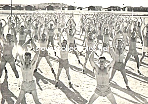 Vintage Shirtless Soldiers JUMPING JACKS - GAY INTEREST (Image1)