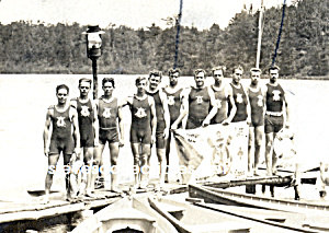 1912 Hot LIFEGUARDS in a Row Photo - GAY INTEREST (Image1)