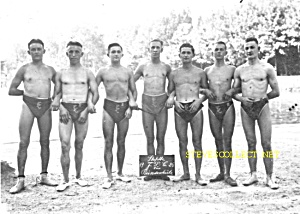 1910s Muscular Male Swim Team-photo-gay Int