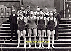 1920s Bulgy Male SWIM TEAM -  Photo - GAY INTEREST (Image1)