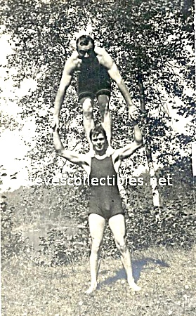 1920s Bulgy Males Shoulder Stander Swim Suits Photo-gay Int