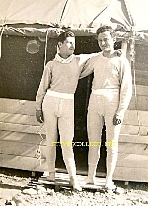Vint. 2 MEN IN LONG JOHNS Photo No. 1-GAY INT (Image1)
