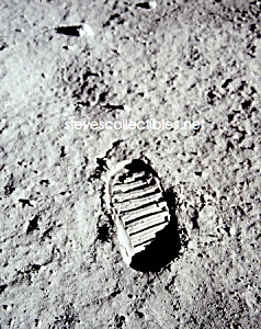 1969 BUZ ALDRIN BOOTPRINT on Moon -Apollo 11 Photo-8x10 (Image1)