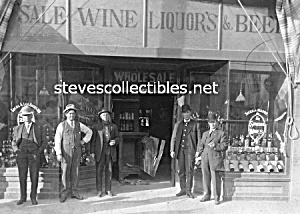 c.1910 ANAHEIM California HALL-WALLS LIQUOR STORE Photo (Image1)