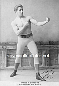 C.1893 Boxing Champion: James J. Corbett Photo