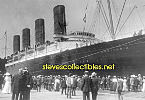 c.1907 LUSITANIA Arriving NY PHOTO - matted (Image1)