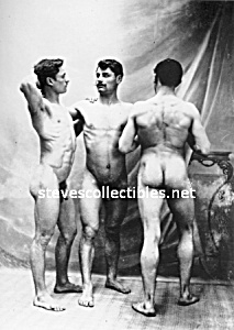 c.1900 Three NUDE MEN GUYS Photo - Gay Interest (Image1)