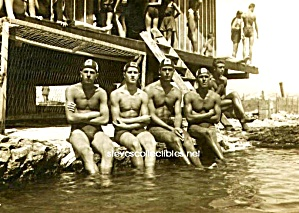 ca.1920 HOT MALE Muscular SWIMMERS Photo-GAY INT. (Image1)