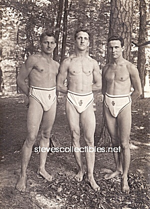 Ca.1910 Hot Guys Muscular Swimmers Photo-gay Int.