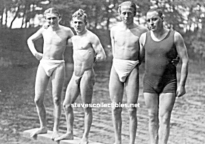 Added 1920s Hot Male Bulgy Swimmers Photo - Gay Interest