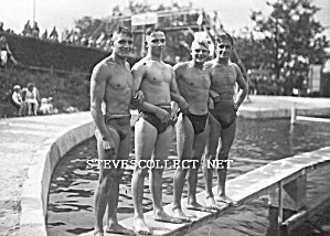 Ca.1920 Hot Male Muscular Swimmers Photo-gay Interest