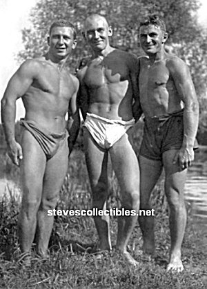 Added Vint. Musc. Male Swimmers Photo - Gay Interest