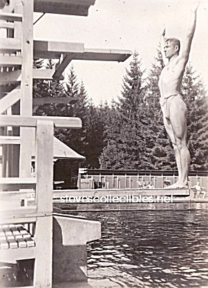 1920s Hot Male Diver Photo - Gay Interest