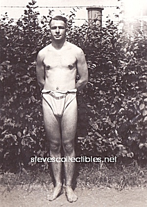 1920s Hot Male Swimmer Photo Gay Interest