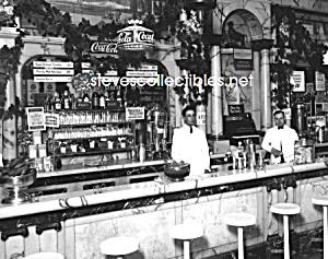 1923 RIKERS DRUG STORE Interior, COCA COLA Adv. Photo B (Image1)