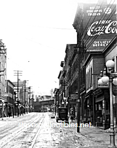 1920 COCA COLA Adv. YONKERS, NY Streetscene Photo B (Image1)