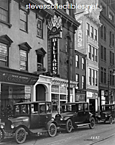 c.1922 ARCADE BILLIARDS SIGN Streetscene Photo (Image1)