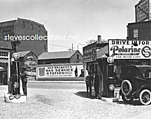 1922 Len Beckets Service Station Polarine Adv. Photo
