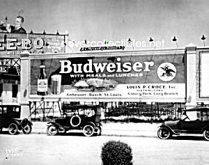 1922 ASBURY PARK - BUDWEISER Advertising Photo (Image1)