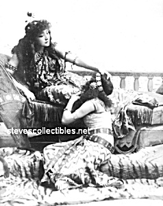 c.1891 SARAH BERNHARDT With Woman  - GAY INTEREST (Image1)