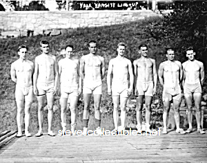c.1915 YALE Varsity Rowing TEAM Photo - GAY INTEREST (Image1)