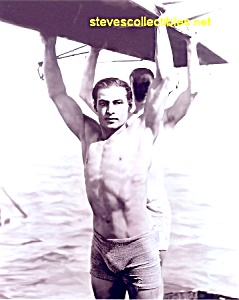 c.1920 Young RUDOLPH VALENTINO Photo - Shirtless (Image1)