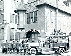 1921 LAFD FIRE TRUCK - Engine Co. 9 PHOTO - 8 x 10 (Image1)