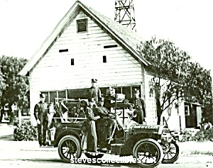 C.1910 Lafd Fire Truck - Hose No. 7 Photo - 8 X 10