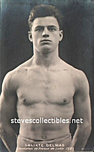 1927 Champion WRESTLER Calixte Delmas Photo - GAY INT. (Image1)