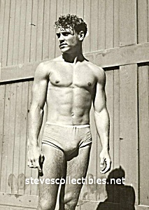 1930s HOT Male Swimmer Photo - GAY INTEREST (Image1)