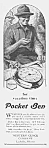 1927 POCKET BEN Westclox Watch Ad (Image1)
