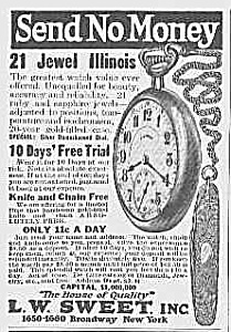 1922 Illinous Pocket Watch Ad L@@k