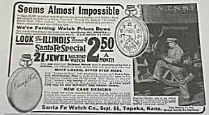 1918 Illinois Pocket Watch Magazine Ad