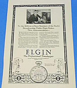 1924 ELGIN POCKET WATCH Ad (Image1)