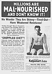 1937 DON'T BE SKINNY Magic Muscle Cure Ad (Image1)