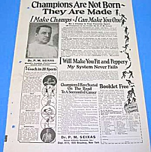 1925 Sports Champions Are Made..quack Ad