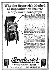 1919 BRUNSWICK-BALKE PHONOGRAPH Mag Ad (Image1)