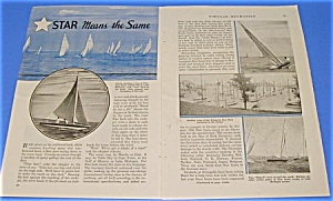 1937 STAR FLEET Yacht RACING Mag Article (Image1)