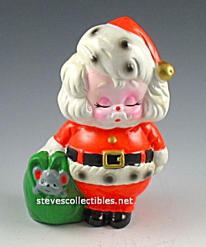 Cutest 1976 TACKIEST SANTA CLAUS Pottery TOY BANK (Image1)