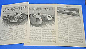 1927 Seagrave DAYTONA BEACH AUTO RACING Mag Article (Image1)
