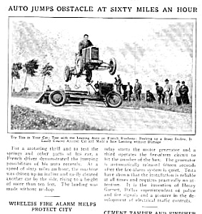 1927 AUTO RACING THRILL SHOW Mag. Article (Image1)