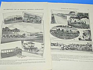 1911 AUTO RACING INDIANAPOLIS Mag Article (Image1)