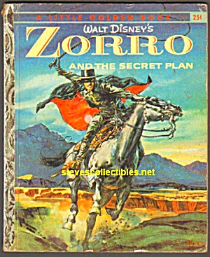 Disney Zorro And The Secret Plan Little Golden Book