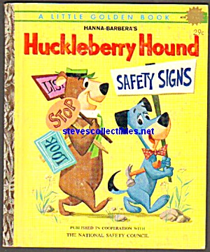 Huckleberry Hound Safety Signs - Little Golden Book