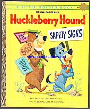 Huckleberry Hound Safety Signs Little Golden Book Little Golden